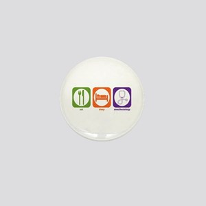 Eat Sleep Anesthesiology Mini Button