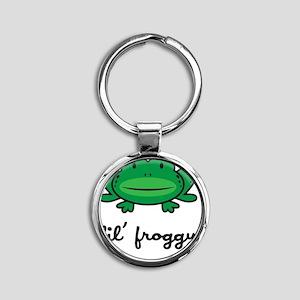 froggy_7x7_apparel Round Keychain