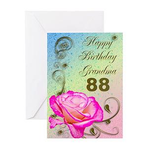88th Birthday Greeting Cards