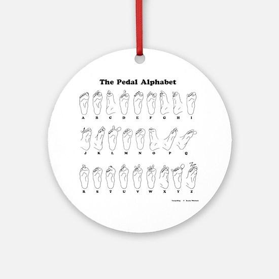 The Pedal Alphabet Round Ornament