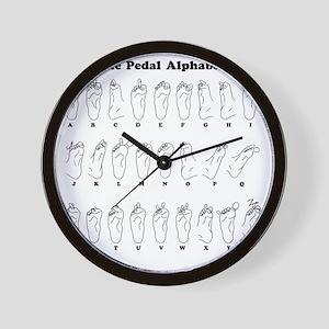 The Pedal Alphabet Wall Clock