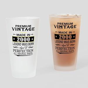 PREMIUM VINTAGE 2000 Drinking Glass