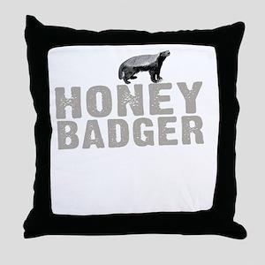 Honey Badger Thing -dk Throw Pillow