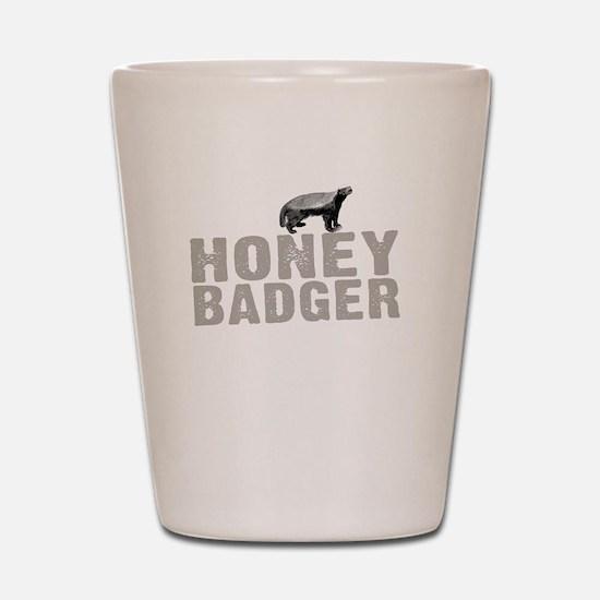 Honey Badger Thing -dk Shot Glass
