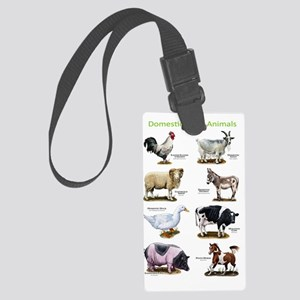 Domestic Farm Animals Large Luggage Tag