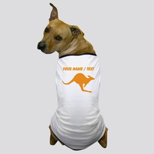 Custom Orange Kangaroo Dog T-Shirt
