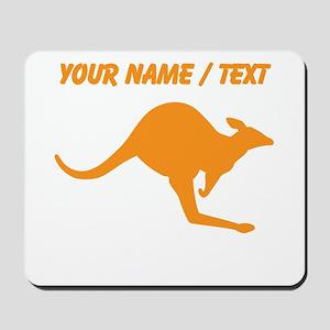 Custom Orange Kangaroo Mousepad