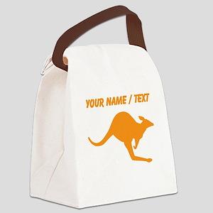 Custom Orange Kangaroo Canvas Lunch Bag