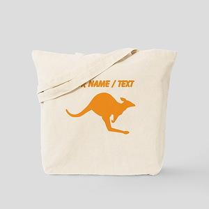 Custom Orange Kangaroo Tote Bag