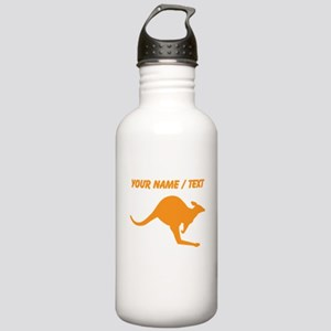 Custom Orange Kangaroo Water Bottle