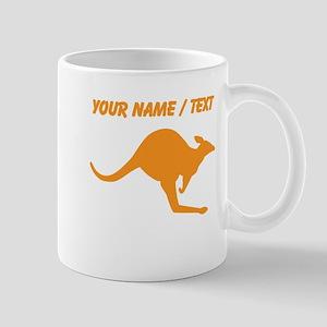 Custom Orange Kangaroo Mugs