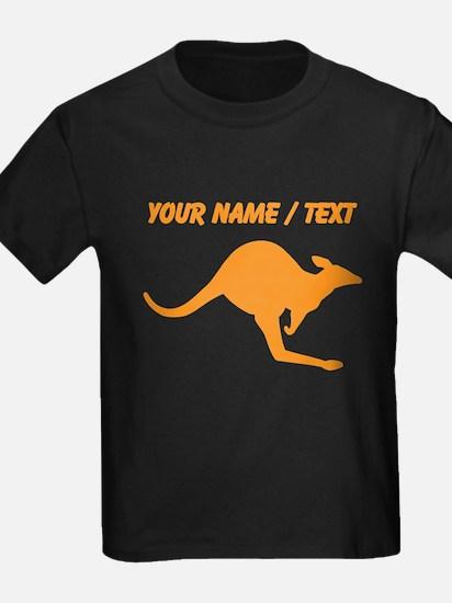 Custom Orange Kangaroo T-Shirt