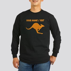 Custom Orange Kangaroo Long Sleeve T-Shirt