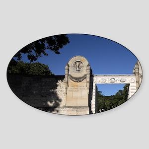 The main entrance of Cimetiere du P Sticker (Oval)