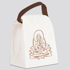 BuddhaOutlineWXXX Canvas Lunch Bag