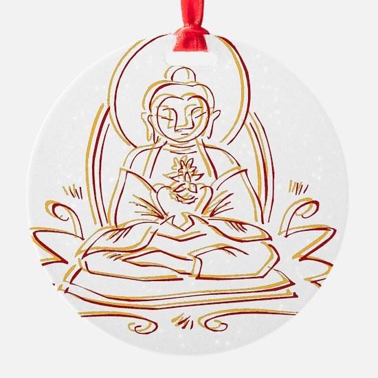 BuddhaOutlineWXXX Ornament