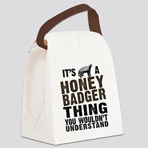 Honey Badger Thing Canvas Lunch Bag