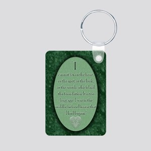 nook_darcy_quote Aluminum Photo Keychain