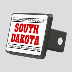 Girl out of s dakota Rectangular Hitch Cover