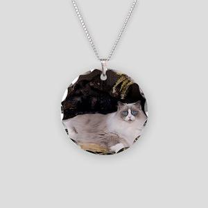 H Sammy fireplace Necklace Circle Charm