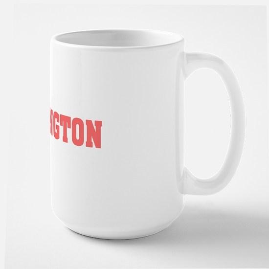 Girl out of washington light Large Mug