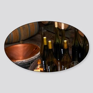 Vaulted barrel aging cellar with ba Sticker (Oval)