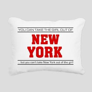Girl out of new york Rectangular Canvas Pillow