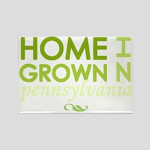 Home grown pennsylvania light Rectangle Magnet