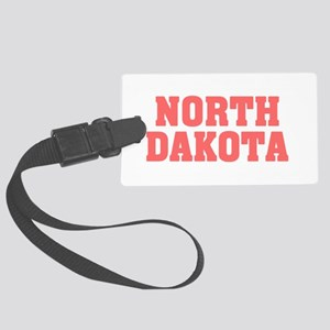 Girl out of n dakota light Large Luggage Tag