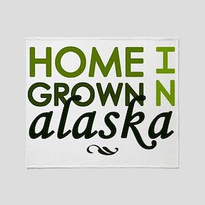 Home grown alaska Throw Blanket