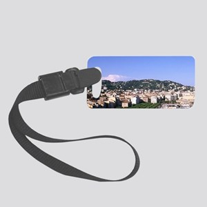 Riviera Harbor from Mountain in  Small Luggage Tag