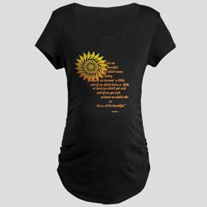 be thankful 12x12 Maternity Dark T-Shirt