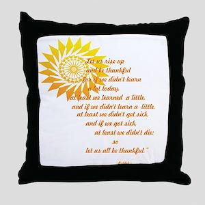 be thankful 12x12 Throw Pillow
