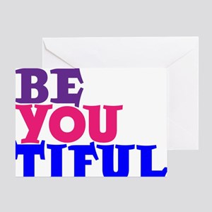 BE YOU TIFUL, color jobbernole Greeting Card