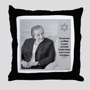 Golda Meir Israel And The Divine Throw Pillow