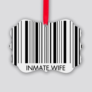 Barcode - Wife Picture Ornament