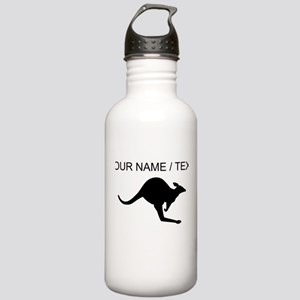 Custom Black Kangaroo Water Bottle