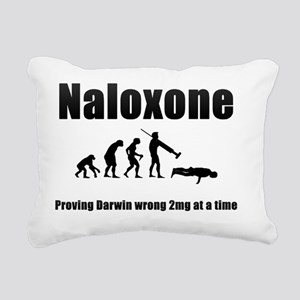 Hi-Res Naloxone (Black) Rectangular Canvas Pillow