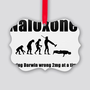 Hi-Res Naloxone (Black) Picture Ornament