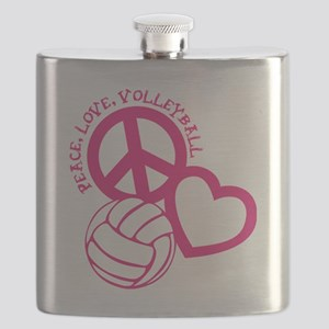 peace love volleyball, melon top, roughage Flask