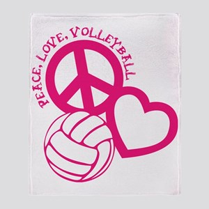 peace love volleyball, melon top, ro Throw Blanket