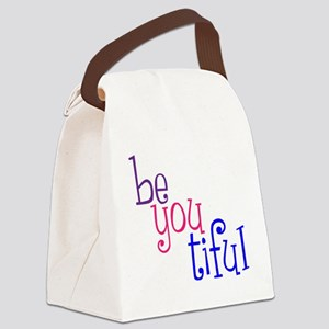 be you tiful, color, grenouille Canvas Lunch Bag