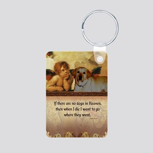 nook_dog_heaven2 Aluminum Photo Keychain