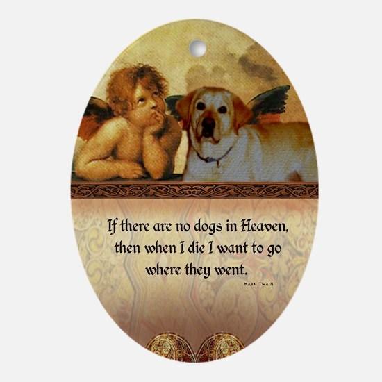 nook_dog_heaven2 Oval Ornament