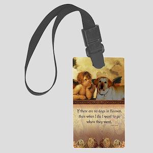 nook_dog_heaven2 Large Luggage Tag