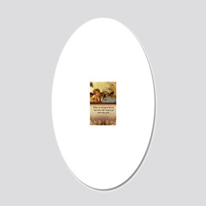 nook_dog_heaven2 20x12 Oval Wall Decal