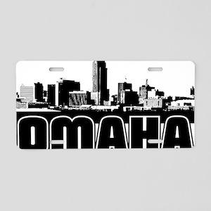 Omaha Skyline Aluminum License Plate