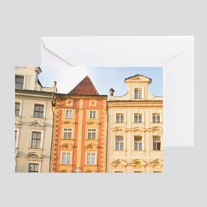Old Town Buildings near Old Town Squ Greeting Card