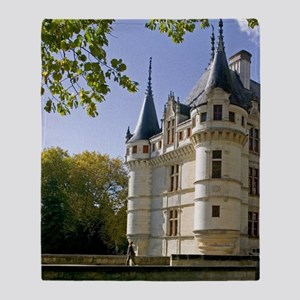 Chateau of Azay-le-Rideau, Indre-et- Throw Blanket