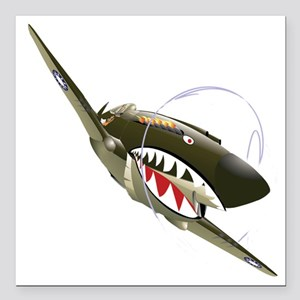 """Flying Tigers Square Car Magnet 3"""" x 3"""""""